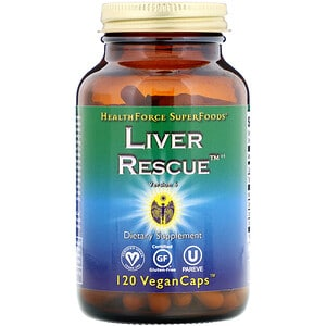 HealthForce Superfoods, Soin du foie, Version 6, 120 capsules véganes